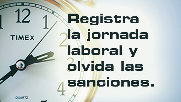 Multas por no registrar la jornada laboral